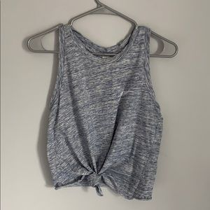 PINK VS workout tank top grey and blue small